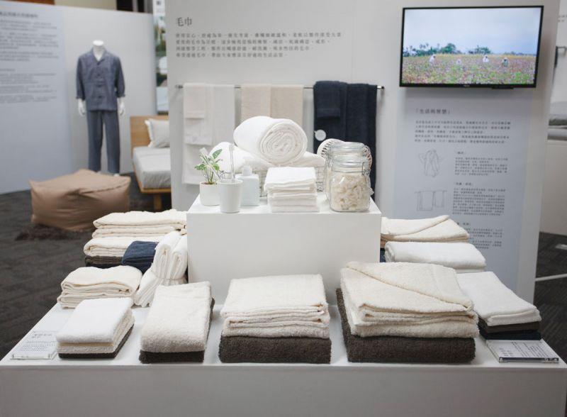 有機棉舒柔毛巾的新品開發來自4萬人的日本網路調查,針對民眾回饋的意見,設計出3種厚度、4種尺寸,總計共12款樣式,可依據個人喜好選擇使用的毛巾系列。(預計6月上市)