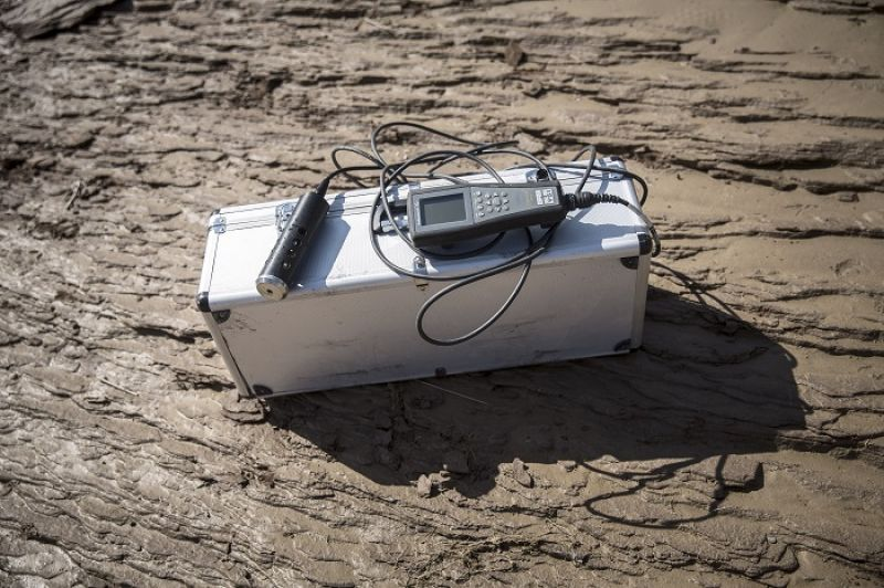 團隊使用的水質探測器