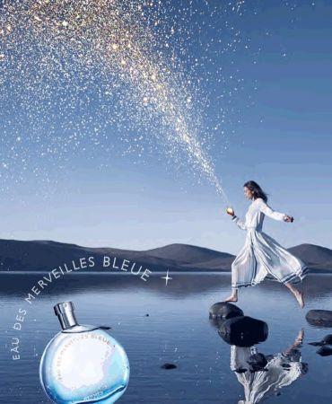 愛馬仕藍色橘彩星光淡香水整瓶香水中,沒有任何一個花香配方,但卻展現出有如天光、海洋、雲朵的輕盈氣息,有如讚嘆女人生命中每一個時刻,散發著閃亮繽紛的耀眼光芒。
