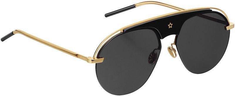 黑x金色飛行員造型太陽眼鏡