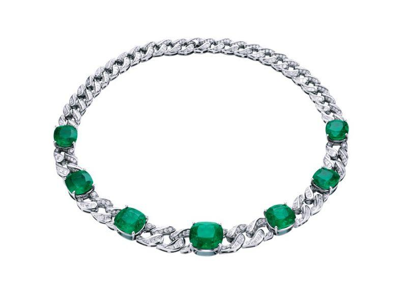 BVLGARI Italian Extravaganza 系列 頂級祖母綠珠寶項鍊(260504)