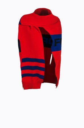 Rykiel For Ever 標語針織斗篷(紅黑藍) @CLUB DESIGNER $18,300