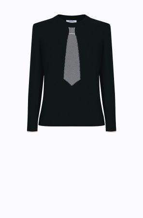 Rykiel For Ever假領帶針織衫(黑) @CLUB DESIGNER $13,600