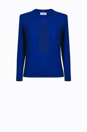 Rykiel For Ever假領帶針織衫(藍) @CLUB DESIGNER $13,600