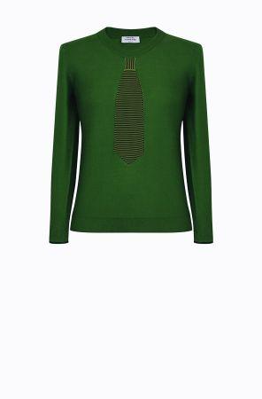 Rykiel For Ever假領帶針織衫(綠) @CLUB DESIGNER $13,600