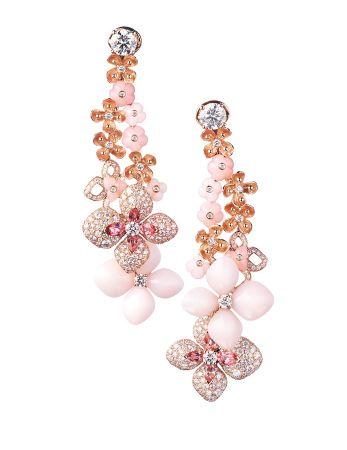 Hortensia繡球花耳環