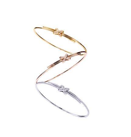 Liens Cross Premiers戀黃金、玫瑰金、白金滿鑽手環 NTD$135,000 - $304,000
