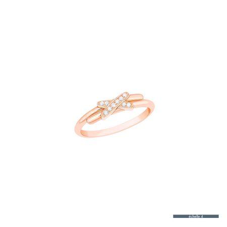 Premiers Liens玫瑰金鑲鑽戒指 NT$ 37,000