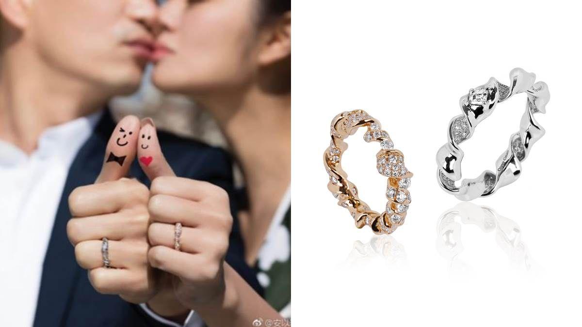 香檳瓶口鐵絲圈旋成一枚戒指 珠寶品牌CINDY CHAO為安以軒封存求婚回憶