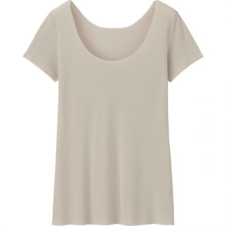UNIQLO女裝 AIRism無縫T恤(短袖) NT$390