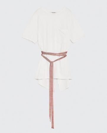 ZARA 人字細紋帶飾 T 恤 NT790