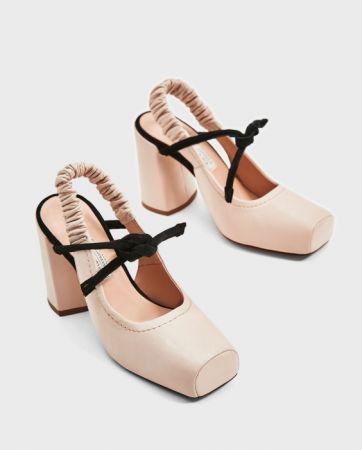 ZARA露跟真皮高跟鞋 NT3990