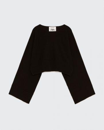 ZARA 短版喀什米爾羊毛針織衫 NT5490