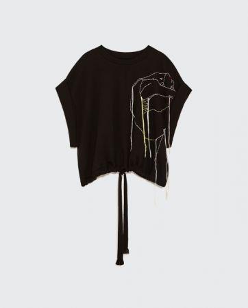 ZARA 短版刺繡運動衫 NT1490