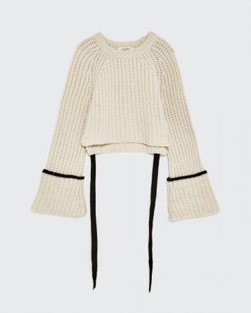 ZARA 帶飾喀什米爾羊毛針織衫 NT7990