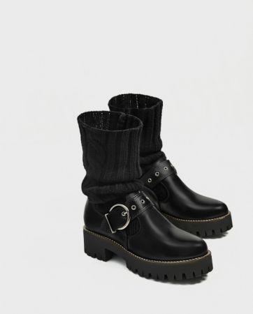 ZARA 溝紋鞋底襪型短靴 NT6490