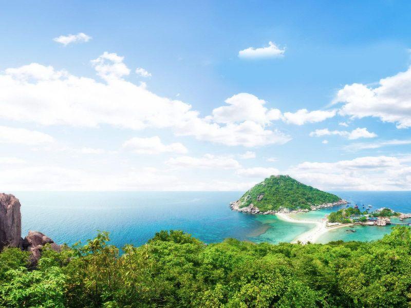 景緻美麗的南緣島。