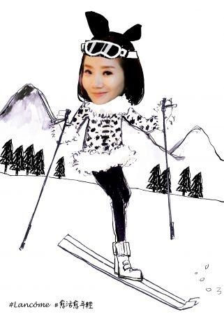 「駕馭速度,在銀色的大地上滑雪?」#蘭蔻 #愈活愈年輕