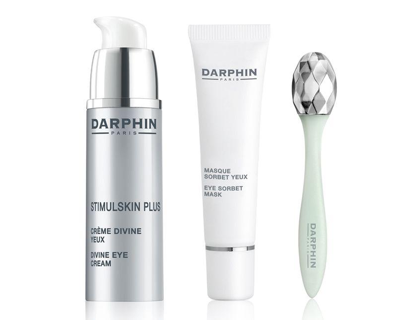Darphin 2017母親節緊緻明眸亮眼組:深海緊緻賦活眼霜15ml、睛亮甦活眼膜15ml、美眼導入棒,價格NT4,350(原價NT6,650)。