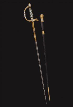 """拿破崙一世""""加冕之劍"""" (Marie-Etienne Nitot ) 約1802年"""