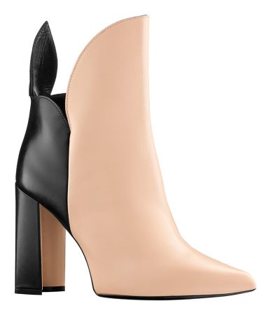 雙色皮革短靴,Louis Vuitton。