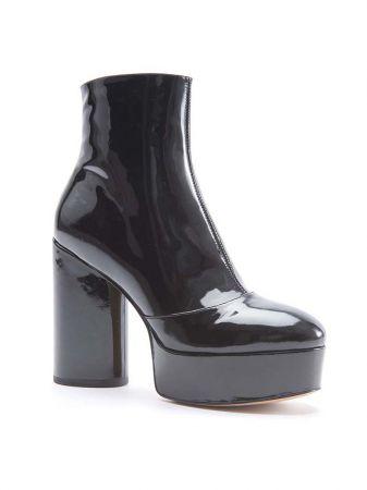 漆皮粗跟中長靴,Marc Jacobs。