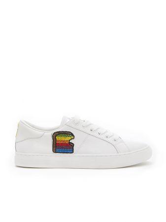 亮片圖樣裝飾平底鞋,Marc Jacobs。