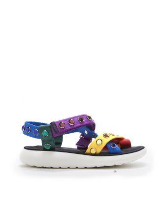 繽紛寶石繫帶涼鞋,Marc Jacobs。
