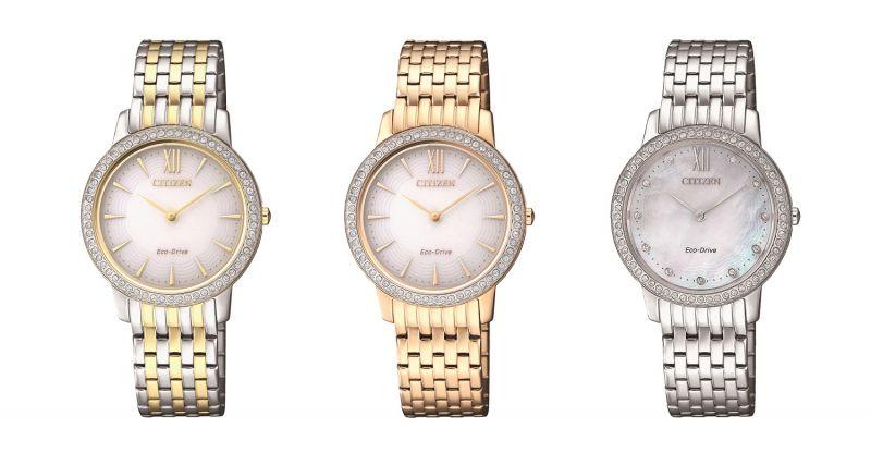 EX1483-84A,NT10,800:不鏽鋼鍍金錶殼、錶帶29.4mm/玫瑰金/藍寶石玻璃鏡面/5氣壓防水。EX1484-81A,NT10,800:不鏽鋼鍍金錶殼、錶帶29.4mm/香檳金/藍寶石玻璃鏡面/5氣壓防水。EX1480-82D,NT9800:不鏽鋼錶殼、錶帶29.4mm/香檳金/藍寶石玻璃鏡面/5氣壓防水。