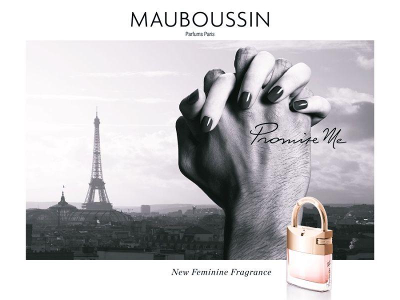 MAUBOUSSIN Promise Me 夢寶星承諾愛戀女性淡香精鎖在香水瓶上的包裝盒以獨特的皇室貴族藍為主體,搭配精緻的壓紋象徵尊貴、深刻烙印於心的承諾。前味:柑橘中味:玫瑰、白色香水草後味:廣藿香