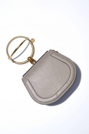Nile 金屬提把小牛皮麂皮小手包,Chloé,NT51,000。