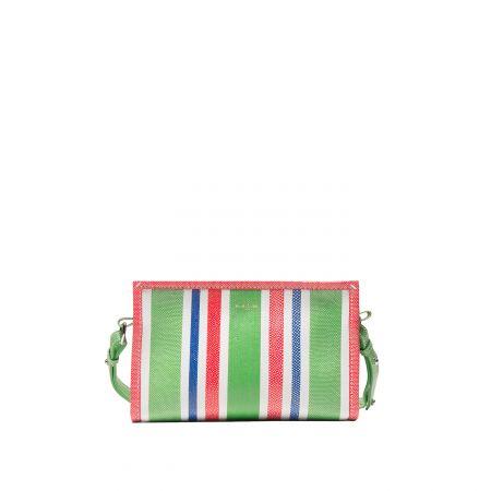 彩色條紋手拿包,Balenciaga。
