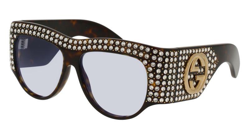 水晶鑲嵌罩式眼鏡,Gucci,NT45,920。