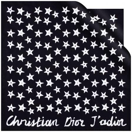 黑色 J'Adior 星星圖騰方巾,Dior,NT7,500。
