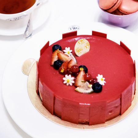檸檬木紅茶香紅莓慕斯蛋糕