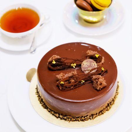 伯爵普洱茶香巧克力慕斯蛋糕