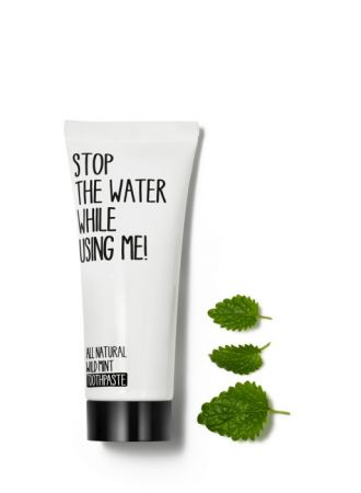 Stop the water while using me! 薄荷海鹽牙膏,75 ml,NT$450