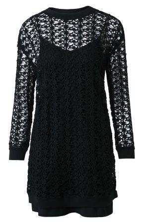 Liza 黑色蕾絲鏤空洋裝 定價7700