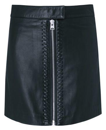 Willow 羊皮拉鍊短裙 定價13700