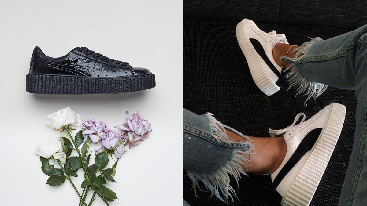 叛逆女孩們久等了!FENTY PUMA by Rihanna厚底Creeper球鞋黑白新色釋出