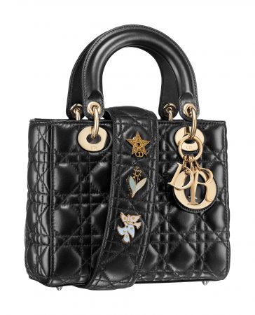 My Lady Dior Star小羊皮幸運徽章背帶手提包 NTD110,000