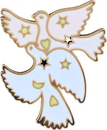 My Lady Dior Star雙和平鴿幸運徽章