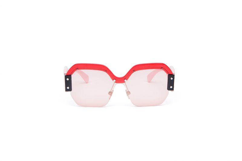 粉彩復古透明太陽眼鏡,Miu Miu。