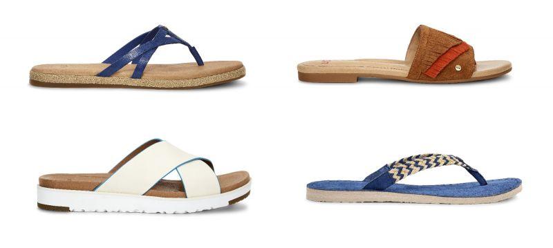 Annice平底涼鞋(藍色)NT3,500、Binx平底涼鞋(栗子色)NT4,500、Kari涼鞋(白色) NT4,800、Annice平底涼鞋(藍色),NT3,500。