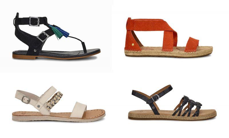 Lecia平底涼鞋(黑色)NT6,500、Mila平底涼鞋(橘色)NT4,800、Elin平底涼鞋(米白)色NT3,800、Larisa涼鞋(黑色)NT4,000。
