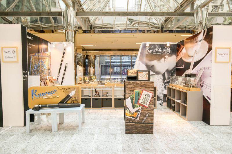【書寫.生活之美】展推出德國品牌Kaweco及Waldmann書寫館,由鋼筆書寫體驗文字之美。