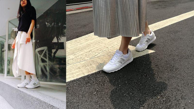 完美氣質、清秀迷人的New Balance MR996專案小編有著一下喜愛甜美、一下喜歡以特殊設計剪裁單品來呈現每日穿搭,但大多偏愛以裙裝來演繹造型,搭配New Balance最經典鞋型之一、同時也能顯得雙足纖細修長的MR996,簡直是絕配!內斂不張揚又流暢的鞋型設計,無論是穿上女生氣息濃厚的棉質洋裝、時尚摩登的銀色百褶裙或是不規則剪裁的設計裙款,也能輕鬆駕馭,讓秀氣造型添加了自我個性主張,想打造清爽迷人的夏日造型就都靠這一款美鞋了!
