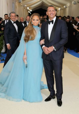 Jennifer Lopez and Alex RodriguezLopez in Valentino