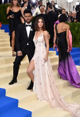 The Weeknd and Selena GomezGomez in Coach