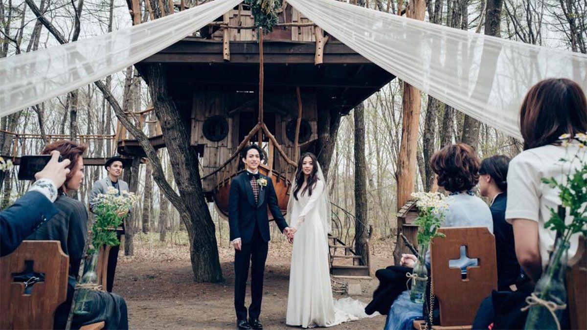 最浪漫的小清新婚禮!林宥嘉、丁文琪的婚紗造型全記錄
